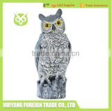 2016 hot sale PE Plastic owl statues with sound