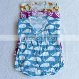long sleeve printed cotton baby clothes romper kimono