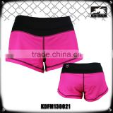 Women's crossfit fashion short 4 way strtch pink printed cheap lady's mma shorts