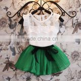 New 2pcs/set Baby Girl Children's Beauty Lace Agaric casual baby girl dresses SV009464#