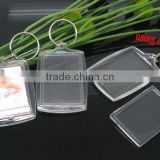 10 Key Chain&Key Rings W/Transparent Acrylic Picture Frames fit 32.5x46mm photo,Customize