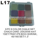 L17 9 PC 9 COLOR CHALK SET