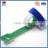 Colorful self-locking double side hook and loop strap fastener adjustable hook and loop cable tie