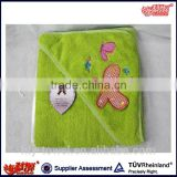 OEM service 100% cotton baby bath towel baby hooded towel