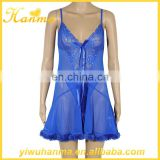 Fancy gauze nighties sex babydoll dress super transparent lingerie