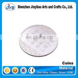 professional custom laser engraved or blank silver coin