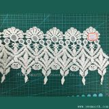 White Embroidery Lace Garment Accessories Water Soluble Cotton Fabric Textile