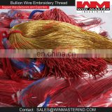 Gold Nakshi and Red Bullion Wire Thread