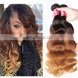 3 tone color ombre hair cambodian hair weave