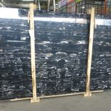 China Silver dragon marble black marble tile marble slab black marble white dragon marble slab