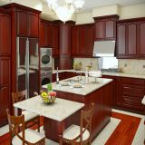 China supplier supply new model  solid wood kitchen cabinet for kitchen