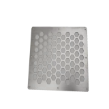Customized hole shape perforated metal mesh sheet