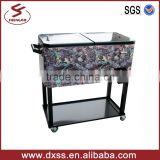 Full printing cooler cart wagon rolling cooler box