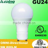 9W 800LM Dimmable GU24 Base Omni A19 LED Bulb                                                                         Quality Choice