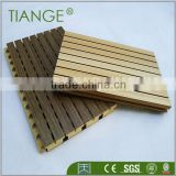 Eco-friendly pine wood for internal sound abosrbtion wall panel