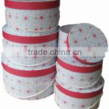 Round Paper Hat box set of 6 (Cord Handle)