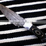 "udk h68"" custom handmade Damascus hunting knife / TANTO knife with sheet handle"