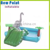 Inflatable swimming pools with small slide,cute inflatable kid pools ,kid inflatable pool