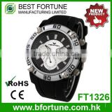 FT1326 Best quality stainless steel case back pc quartz watch
