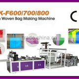 XK-F600/700/800 Full Automatic Non Woven Fabric Bags with decorative border Making Machine