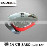 CNZIDEL cheap divided non-stick deep frying pan