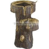 New Products Outdoor Tree Trunk Bird Bath Waterfall Fountain