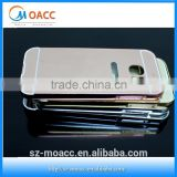 Aluminium luxurious chrome mirror case with metal bumper mobile phone cases for Samsung Galaxy S7