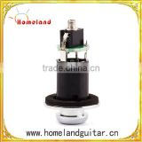 No Solder Strap Pin Endpin Jack for Guitar, Black Pickup