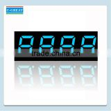 1 Inch 4 Digits Blue Mini 7 Segment LED Display                                                                         Quality Choice