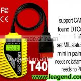 OBDII basic diagnostic scanner/code reader T40