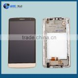 china supplier LCD display and touch assembly with frame for LG G3 Stylus D690 gold