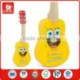 new products 2015 educational music toy yellow colour 6 string 3 years' old child play fuuny wooden musical instruments guitar