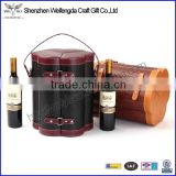 New Design Promotion Pretty Leather 6 pack bottle carrier