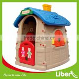 outdoor plastic printing cardboard playhouse furniture, window playhouse, chimney playhouse for kids sale LE.WS.004