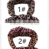 fashion brown leopard baby headband- cotton material
