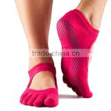 Natural Fitness custom wholesale combed cotton pilates socks                                                                         Quality Choice