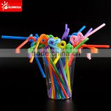 Wholesale disposable colorful plastic cold drinking straw