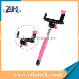 Wireless monopod mobile phone selfie stick,bluetooth selfie stick
