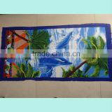 custom terry cloth weighted beach towel with elastic
