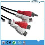 factory price av cable din plug to 3 rca cable bnc audio jack cable composite audio cable