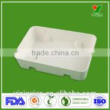 Wholesale Eco-friendly Biodegradable ODM/OEM Bagasse Packing Molded Pulp Buffering Packaging Tray with Competitive Price