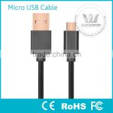 Reversible USB 2.0 A Male to Micro USB Male Cable Braided with Premium Aluminum Connector