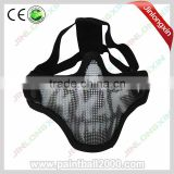 airsoft mask wire mesh skull mask with double strap