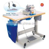 Automatic Chain Cutter & suction device & Servo motor with over-lock machine