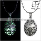 Retro Style Bronze Heart Shape Magical Fairy Glow in the Dark Pendant Necklace