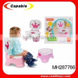 2015 new model baby toilet trainer with music