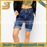 2015 Hot basic spandex garment dye wash basic shorts,denim fashion overalls,hem shorts