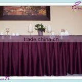 YHK#12 pleats table skirt - polyester banquet wedding wholesale chair cover sash table cloth skirt linen
