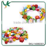 Wholesale Personalized Children's Wooden Shaped DIY Educational Toys On Sale Wooden Beads