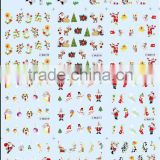 2015 HOT Sell BLE Series Christmas Water Transfer Decals Christmas Nail Rrt Sticker